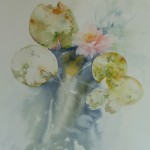 Waterlilies III - watercolour